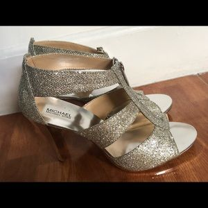 Michael KORS Women Shoes silver/Leather 9.5